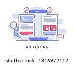 ab testing concept a b...