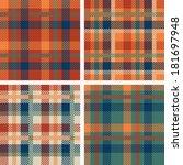 Set Of Tartan Seamless Patterns