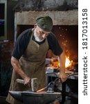 Old Blacksmith Working Metal...