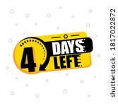 4 days to go. vector hand drawn ... | Shutterstock .eps vector #1817022872