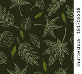 vector pattern of different... | Shutterstock .eps vector #181703318