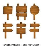 wooden sign. plank wood. wood... | Shutterstock .eps vector #1817049005