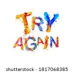 try again. motivation vector... | Shutterstock .eps vector #1817068385