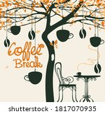 banner for a coffee shop with... | Shutterstock .eps vector #1817070935