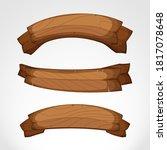 wooden sign. plank wood. wood... | Shutterstock .eps vector #1817078648