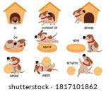 english prepositions with cute... | Shutterstock .eps vector #1817101862