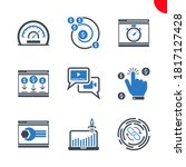 seo related vector glyph icons...   Shutterstock .eps vector #1817127428