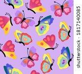 Seamless Pattern Butterflies....