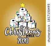 christmas mode 2020   funny... | Shutterstock .eps vector #1817150495
