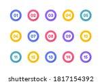 super set bullet point on white ... | Shutterstock .eps vector #1817154392