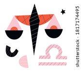 libra zodiac vector abstract... | Shutterstock .eps vector #1817174495
