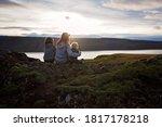 Family Posing In Geothermal...
