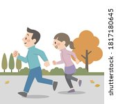 illustration of a young couple... | Shutterstock .eps vector #1817180645