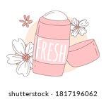 women deodorant for girls in a... | Shutterstock .eps vector #1817196062