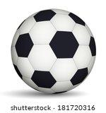 football ball black and white | Shutterstock .eps vector #181720316