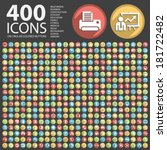 400 flat icon on circular...   Shutterstock .eps vector #181722482