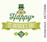 happy st patrick's day card ... | Shutterstock .eps vector #181722686