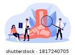 foot or toe trauma concept.... | Shutterstock .eps vector #1817240705