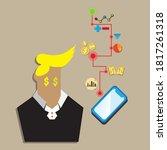 trading technology for stocks... | Shutterstock .eps vector #1817261318