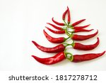 Red Bitter Chili Pepper In The...