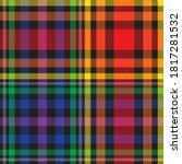 rainbow glen plaid textured... | Shutterstock .eps vector #1817281532
