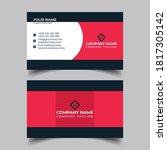 corporate business card design...   Shutterstock . vector #1817305142