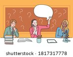experts are sitting at their... | Shutterstock .eps vector #1817317778