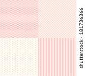 set of four popular primitive... | Shutterstock .eps vector #181736366