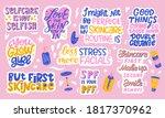 big set of skin care lettering...   Shutterstock .eps vector #1817370962