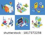school subjects contemporary... | Shutterstock .eps vector #1817372258