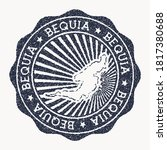 Bequia Stamp. Travel Rubber...