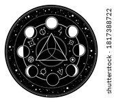 round frame with alchemical... | Shutterstock .eps vector #1817388722