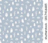 wild animals seamless pattern... | Shutterstock .eps vector #1817416685