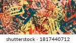 multicolored grunge background. ...   Shutterstock .eps vector #1817440712