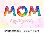 happy mother's day... | Shutterstock .eps vector #181744175