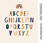 stylish alphabet in... | Shutterstock .eps vector #1817450432