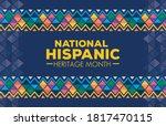 hispanic and latino americans...   Shutterstock .eps vector #1817470115