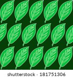 green leaf pattern. vector... | Shutterstock .eps vector #181751306