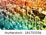 futuristic web cyber data grid... | Shutterstock . vector #181752536