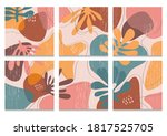 hand drawn various shapes and...   Shutterstock .eps vector #1817525705
