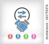 exchange agreement icon   Shutterstock .eps vector #181753376