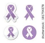 lavender ribbon   general... | Shutterstock .eps vector #181754378