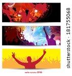 music banners set. vector  | Shutterstock .eps vector #181755068