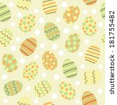 easter eggs seamless pattern | Shutterstock .eps vector #181755482