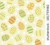 easter eggs seamless pattern | Shutterstock .eps vector #181755482