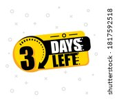 three days to go. no of days... | Shutterstock .eps vector #1817592518