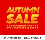 vector promo flyer autumn sale. ... | Shutterstock .eps vector #1817598035