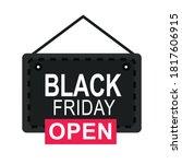 black friday  open shop door... | Shutterstock .eps vector #1817606915