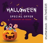 halloween social media post... | Shutterstock .eps vector #1817640335