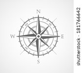 black wind rose isolated vector ... | Shutterstock .eps vector #181766642